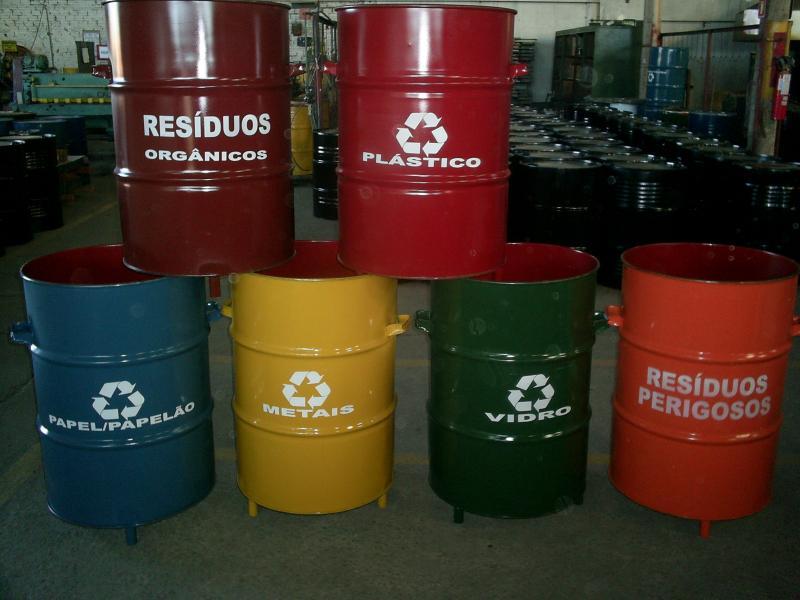 Tambor 200 litros coleta seletiva